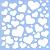 ESTÊNCIL QD 351 15 X 15 CORAÇÕES - Imagem 1