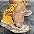 Sandália AnaBella Nova Coleção Corda Salto Alto Amarela 36 - Imagem 1
