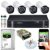 Kit CFTV Intelbras 04 Câmeras VHD 3130 B G4 e DVR de 04 Canais MHDX 1104 - Imagem 1