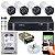 Kit CFTV Intelbras 04 Câmeras VHD 3130 B G4 e DVR de 04 Canais MHDX 1104 1TB WD Purple - Imagem 1