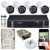 Kit CFTV Intelbras 04 Câmeras VHD 3130 B G4 e DVR de 04 Canais MHDX 1104 500GB - Imagem 1