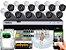 Kit CFTV Intelbras 12 Câmeras VHD 3230 B G4 e DVR de 16 Canais MHDX 3116 2TB - Imagem 1