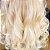 Cabelo loiro super claríssimo Martha Hair nº 12, mesclado, natural, ondulado, com coloração (kit com 25g) - Imagem 2