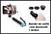 Kit pau de selfie com bluetooth + lentes para celular - Imagem 1