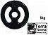 Anilha emborrachada com pegada . 5 kg - Terra Fitness  - Imagem 1