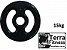 Anilha emborrachada com pegada 15 kg - Terra Fitness  - Imagem 1