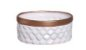 Vaso Geométrico Branco e Bronze P  - Imagem 1