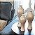 Vaso Decorativo Califórnia Trio Enfeite em Cerâmica Creme - Imagem 1