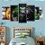 Quadro Decorativo Star Wars 129x61 5pc Quarto - Imagem 2