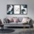 Quadro Decorativo Love Abstrato Azul  - Imagem 4