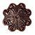 Puxador Flor Colonial Turim Grande 886-66 - Imagem 1