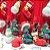 Borracha Natal Snowman 4 un - Imagem 1