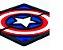 Quadro Decorativo 3D Alto Relevo Capitão América Mdf 3mm  - Imagem 1