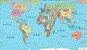 Mapa mundi político adesivado - Imagem 1