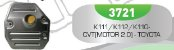 Filtro de Transmissão Automática K111/K112/K110 CVT MOTOR 2.0 Toyota - Imagem 1