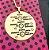 Mandala maternidade redonda desenho banhada em ouro 18k (enviar dados por por email) - Imagem 1