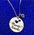 Colar redondo Mamãe Amada personalizado com ponto de luz banhado em ouro 18k (pz 45 dias) - Imagem 1