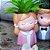 Vaso em Poliresina Menina de Casaco Rosa - Imagem 2