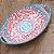 Travessa de Cerâmica Estampada Mandala Rosa e Azul Claro - Imagem 2