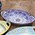 Travessa de Cerâmica Estampada Mandala Azul Escuro e Laranja - Imagem 2