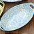 Travessa de Cerâmica Estampada Mandala Azul Claro e Amarela - Imagem 2