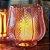 Porta-Vela de Vidro Rosa com Borda Dourada - Imagem 2