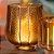 Porta-Vela de Vidro Marrom com Borda Dourada - Imagem 3