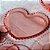 Prato Coração de Cristal de Chumbo Pearl Rosa Pequeno - Imagem 2