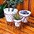 Trio Vasos de Porcelana e Ferro Coração - Imagem 2