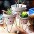 Trio Vasos de Porcelana e Ferro Borboleta - Imagem 2
