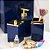 Kit de Banheiro com 3 Peças Azul Marinho Quadratta - Imagem 2