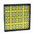 Bandeja 4 Azulejos Ladrilho Amarelo Moldura Azul Escuro - Imagem 2