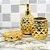 Kit de Banheiro em Cerâmica Abacaxi Dourado - Imagem 2