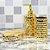 Kit de Banheiro em Cerâmica Dourado Colméia - Imagem 2