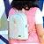 Bolsa Mochila Infantil Flamingo Azul Claro Pequena - Imagem 2