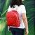 Bolsa Mochila Infantil Unicórnio Vermelha - Imagem 2