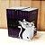 Aparador de Livros em Aço Gatinho Branco - Imagem 3