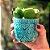 Cachepô em Cerâmica Corações e Flores em Relevo Verde - Imagem 2