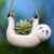 Cachepô de Cerâmica Bicho-Preguiça Bege Grande - Imagem 2