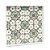 Bandeja 4 Azulejos Istambul Marrom Moldura Branca - Imagem 2
