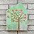 Quadro de Madeira em Forma de Casa Verde Árvore - Imagem 2