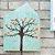 Quadro de Madeira em Forma de Casa Azul Árvore - Imagem 2