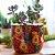 Cachepô em Cerâmica Frida Kahlo Flores Amarelas e Vermelhas - Imagem 2