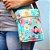 Bolsa Transversal Shoulder Bag Frida Kahlo Floral Azul - Imagem 2