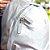 Mochila de Nylon com 2 Bolsos Prata - Imagem 3