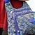 Bolsa Tranversal Estampada Nylon Mesclada Azul - Imagem 3