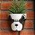 Vaso de Cerâmica com Suporte de Metal Cachorro Face Marrom - Imagem 2