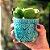 Kit Cachepôs em Cerâmica Corações e Flores em Relevo Verde - Imagem 2