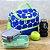 Bolsa Térmica com 2 Compartimentos Estampada Dots Azul e Verde - Imagem 2