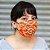 Máscara de Proteção de Algodão Estampada Laranja - Imagem 2